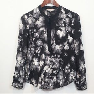 Rebecca Taylor | Silk Floral Long Sleeve Blouse
